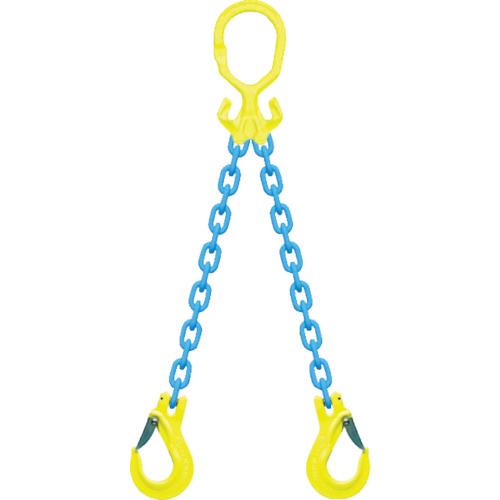 マーテック チェーンスリングセット 2本吊 スリングフックタイプ 1.5t 2m MG2-EGKNA6