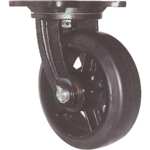 ヨドノ 鋳物重量用キャスター(ゴム車輪) 150mm MHA-MG150X75