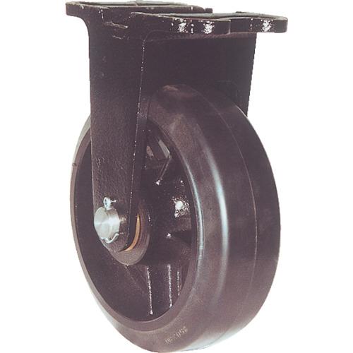 ヨドノ 鋳物重量用キャスター(ゴム車輪) 200mm MHA-MK200X75