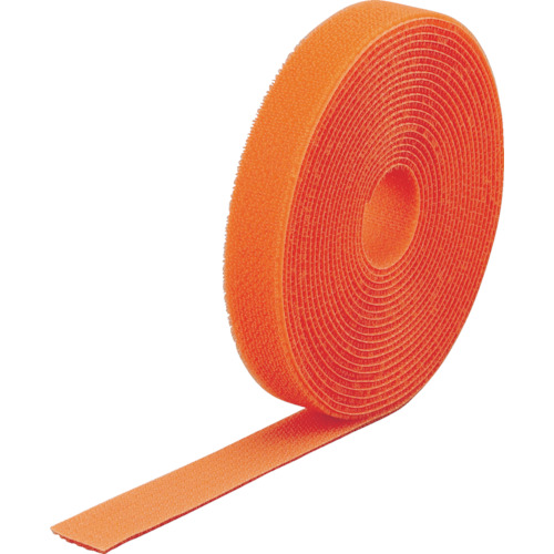 TRUSCO(トラスコ) マジック結束テープ 両面 オレンジ 40mmX25m MKT-40250-OR