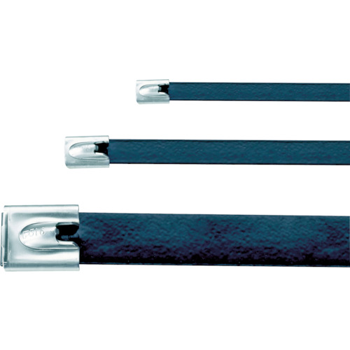 パンドウイット フルコーティングステンレススチールバンド 幅7.9X長さ363mm 黒 50本 MLTFC4H-LP316