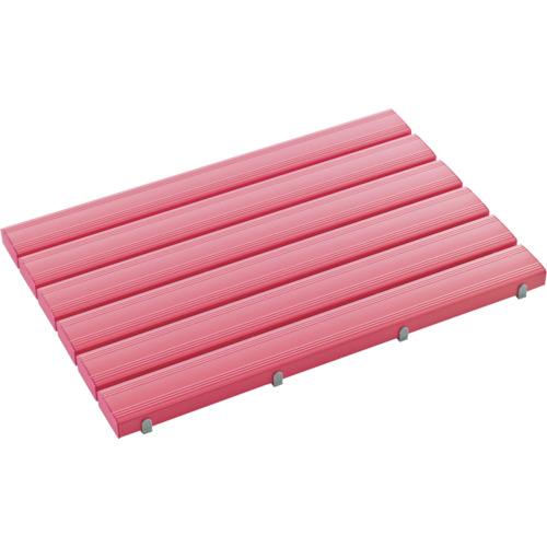 【直送】【代引不可】テラモト 抗菌安全スノコ 600×1810mm ピンク 組立品 MR-093-346-5