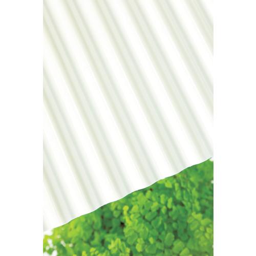 【直送】【代引不可】タキロン ポリカ波板 32波 6尺 740ミルク 10枚 217606