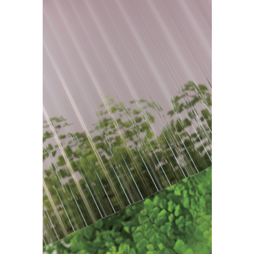 【直送】【代引不可】タキロン ポリカ波板 32波 8尺 810ブロンズ 10枚 217880