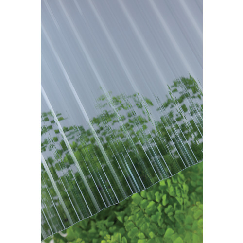 【直送】【代引不可】タキロン ポリカ波板 32波 8尺 910グレースモーク 10枚 217897