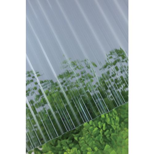 【直送】【代引不可】タキロン ポリカ波板 32波 9尺 910グレースモーク 10枚 217996