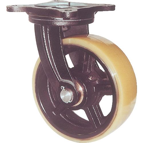 【直送】【代引不可】ヨドノ 鋳物重量用キャスター(ウレタン車輪)300mm MUHA-MG300X100