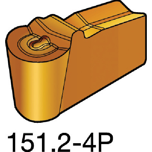 SANDVIK(サンドビック) T-Max Q-カット 突切り・溝入れチップ 1125 COAT 10個 N151.2-600-50-4P 1125