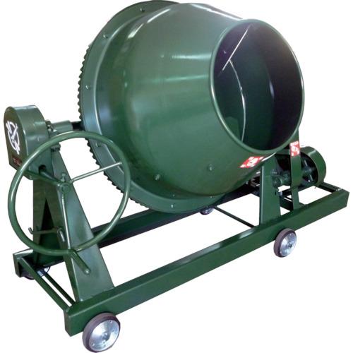 【直送】【代引不可】トンボ工業 グリーンミキサ 4切丸ハンドル 車輪モーター付 110L NGM-4M15