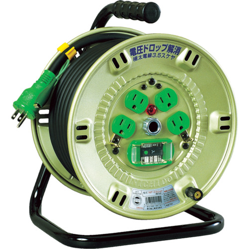 日動(NICHIDO) 100V漏電遮断器付電工ドラム 3.5SQ NP-EB24F