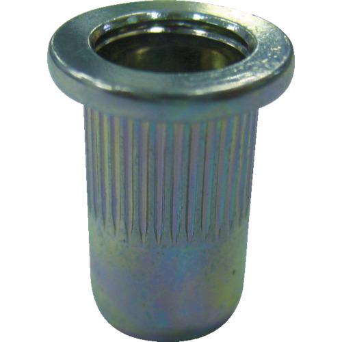 ロブテックス(エビ) エビローレットナット 平頭 スティール M6板厚0.5~3.2 1000本入 NSD6MR