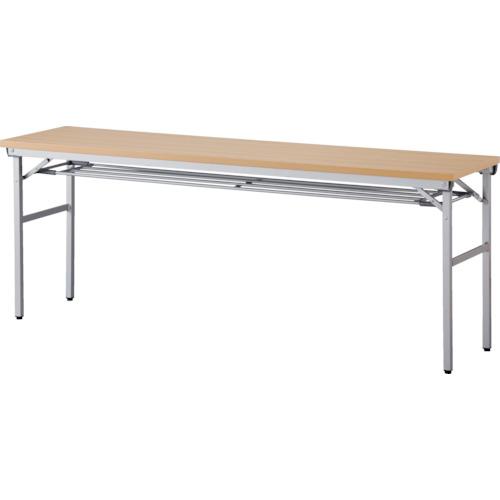 【直送】【代引不可】IRIS(アイリスチトセ) 折畳みテーブル ワイドタイプ 棚付 奥行450mm ナチュラル OTNK-1845T-N