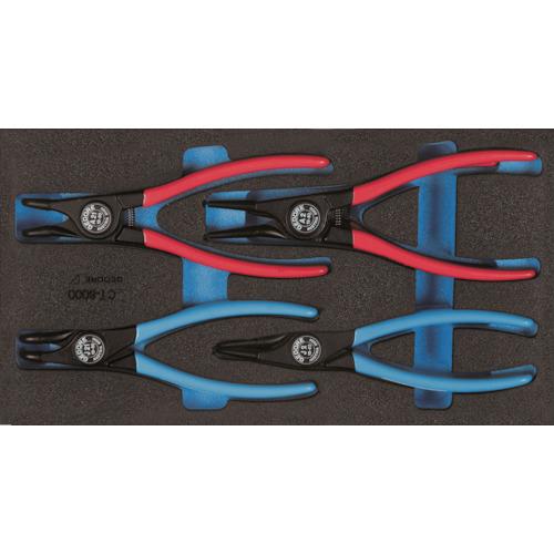 GEDORE(ゲドレー) スナップリングプライヤセット 1500CT1‐8000 4点組 2309181