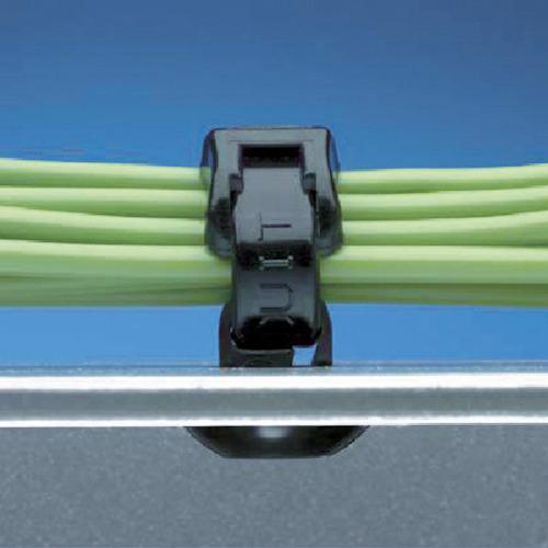 パンドウイット 押し込み型固定具 耐候性黒 PBMS-H25-M0