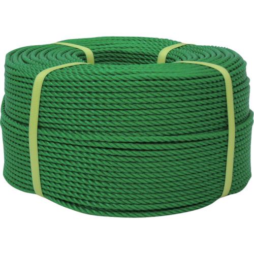 ユタカメイク ロープ PEロープ巻物 12φ×200m グリーン PE-63