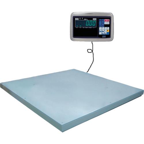 【直送】【代引不可】ヤマト(大和製衡) 超薄形デジタル台はかり 1.5t 1000x1000 PL-MLC9 1.5-1010