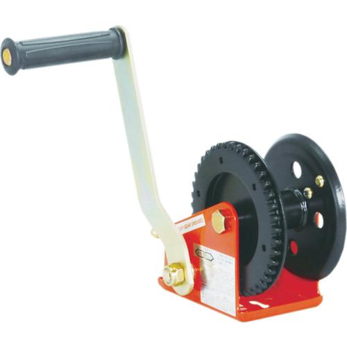 マックスプル工業 回転式ミニウインチ 爪かけブレーキ型 100kg PM-100