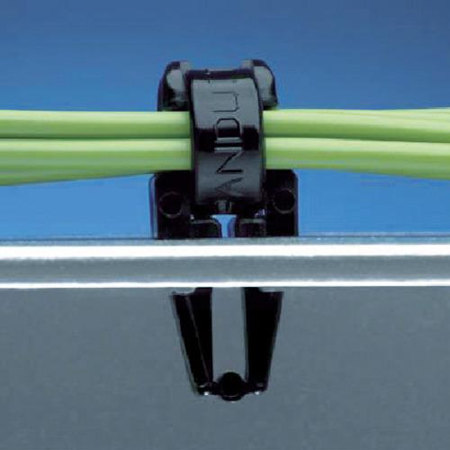 パンドウイット 押し込み型固定具 耐候性黒 PM2H25-M0
