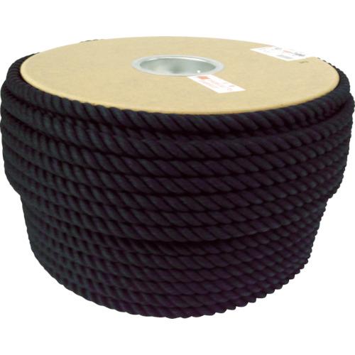 ユタカメイク 綿ロープドラム巻 φ12X100m ブラック PRC-61