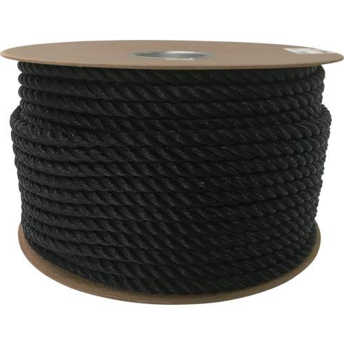 ユタカメイク ポリエチレンロープドラム巻 12mmX100m ブラック PRE-64