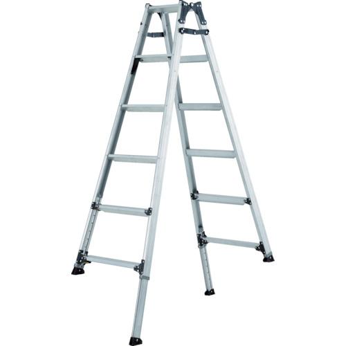 【直送】【代引不可】ALINCO(アルインコ) 伸縮脚付きはしご兼用脚立(踏ざん幅60mm・各脚441mm伸縮) PRT120FX
