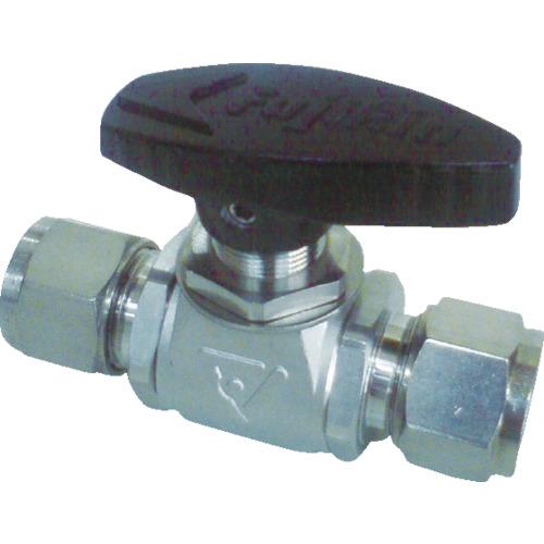 フジキン パネルマウント式ボール弁 ステンレス鋼製4.90MPa 6.35mm PUBV-95-6.35
