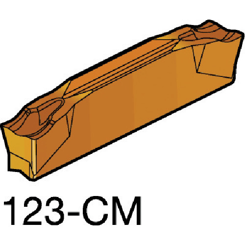 サンドビック コロカット2 突切り・溝入れチップ 1125 10個 R123H2-0400-0502-CM 1125