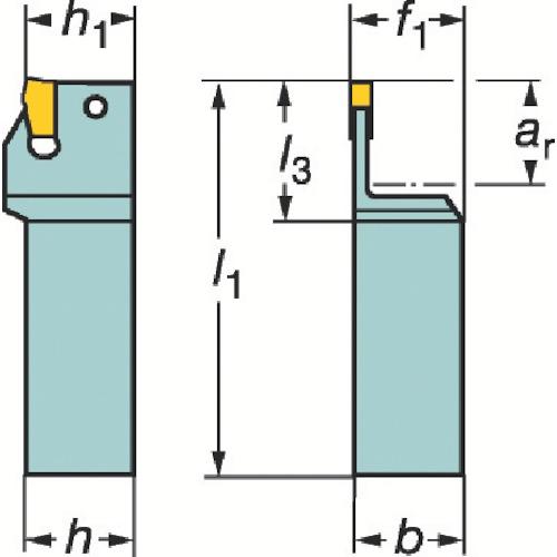サンドビック T-Max Q-カット 突切り・溝入れ用シャンクバイト R151.21-2525-40A