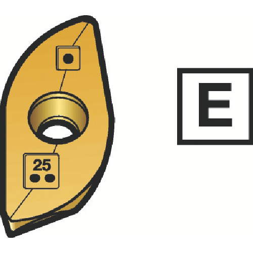 サンドビック コロミルR216ボールエンドミル用チップ 1025 10個 R216-16 03 M-M 1025