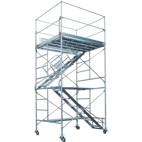 【直送】【代引不可】Pica(ピカ) 鋼管製移動式足場ローリングタワー 内階段仕様 4.83~4.98m RA-3UA