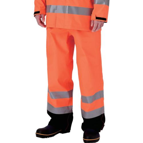 ミドリ安全 雨衣 レインベルデN 高視認仕様 下衣 蛍光オレンジ M RAINVERDE-N-SITA-OR-M