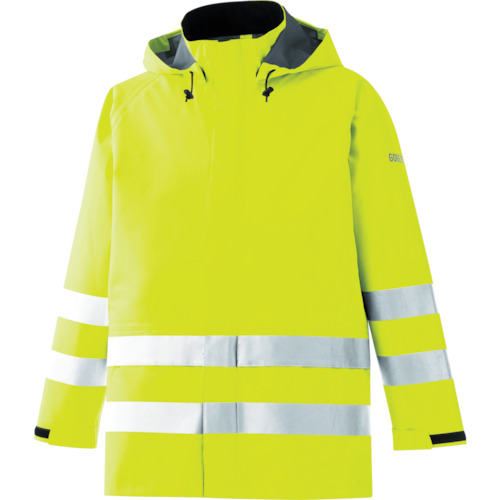 ミドリ安全 雨衣 レインベルデN 高視認仕様 上衣 蛍光イエロー L RAINVERDE-N-UE-Y-L