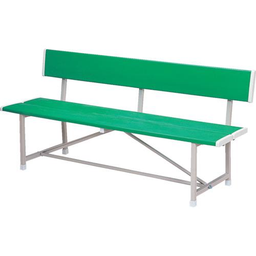 【直送】【代引不可】ノーリツイス ベンチ(背付) 幅1800 緑 RBA-1800 GN