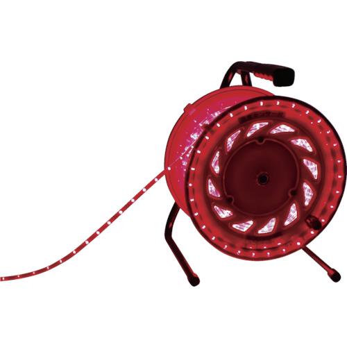 日動工業 LEDラインチューブドラム 赤 RLL-30S-R