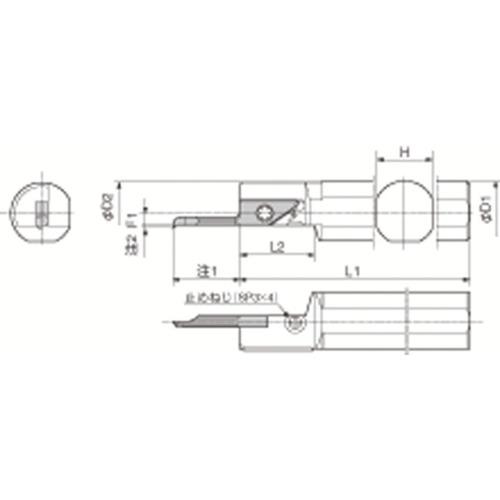 京セラ 内径加工用ホルダ S20H-SVNR12SN