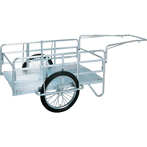 【直送】【代引不可】昭和機械工業 アルミ折畳みリヤカー S8-A2