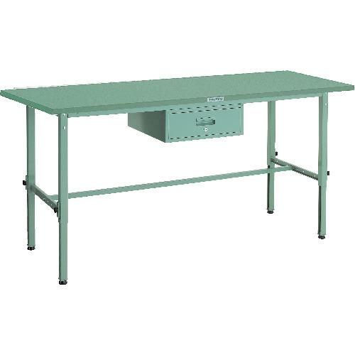 【直送】【代引不可】TRUSCO(トラスコ) 軽量高さ調整作業台 鉄天板 1800X900 1段引出付 SAEM-1809F1