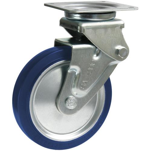 シシクSISIKUアドクライス プレート式緩衝キャスター(ゴム車輪)200mm SAJ-HO-200SST
