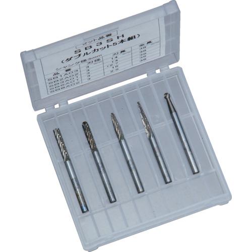 スーパーツール 超硬バー 軸6mm 5本組 5種類入 SB6SH