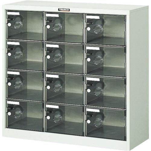 【直送】【代引不可】TRUSCO(トラスコ) シューズケース 12人用 900X380XH880 透明 SC-12PC