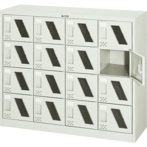 【直送】【代引不可】TRUSCO(トラスコ) シューズケース 16人用 1050X380XH880 窓付 SC-16WM
