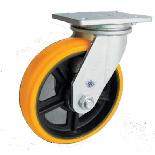 ヨドノ 重量用キャスター 高硬度ウレタン自在車250φ SDUJ250