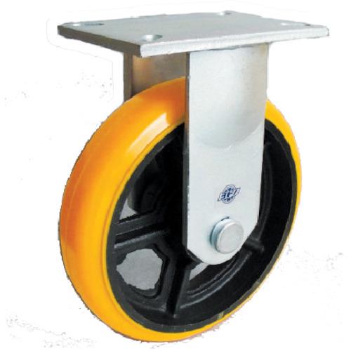 ヨドノ 重量用キャスター 高硬度ウレタン固定車200φ SDUK200