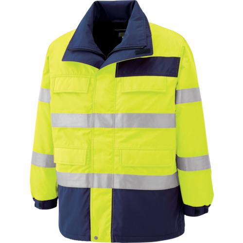 ミドリ安全 高視認性 防水帯電防止防寒コート イエロー S SE1124-UE-S