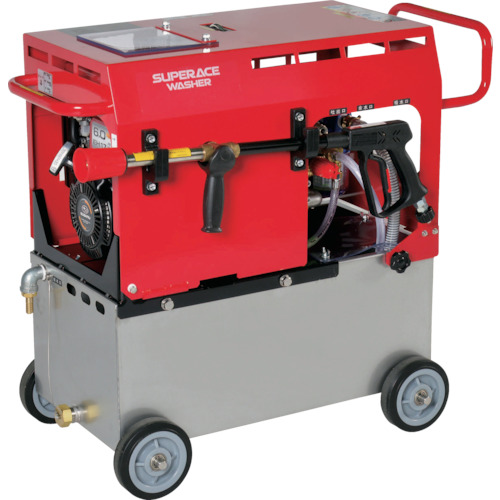 【直送】【代引不可】スーパー工業 エンジン式 高圧洗浄機(静音型) SE-2107ST5