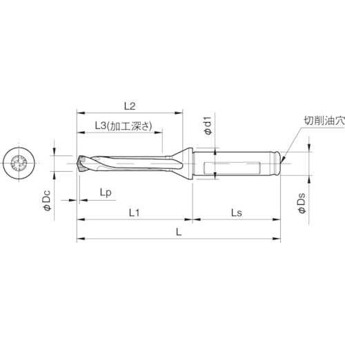 京セラ ドリル用ホルダ SF16-DRC105M-5