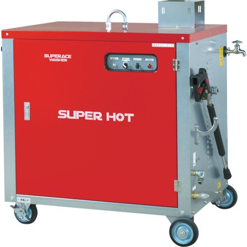 【直送】【代引不可】スーパー工業 モーター式高圧洗浄機 50HZ(温水タイプ) SHJ-1510S-50HZ