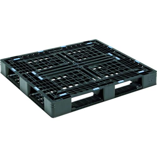 【直送】【代引不可】サンコー(三甲) プラスチックパレット 1200X1000X130 黒 SK-D4-1012-8-BK