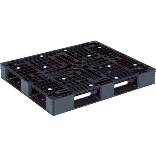 【直送】【代引不可】サンコー(三甲) プラスチックパレット 1200X1000 黒 SK-D4-1012-9-BK