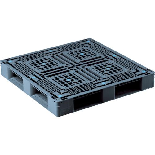 【直送】【代引不可】サンコー(三甲) プラスチックパレット 1100X1100X150 黒 SK-D4-1111-2S-BK